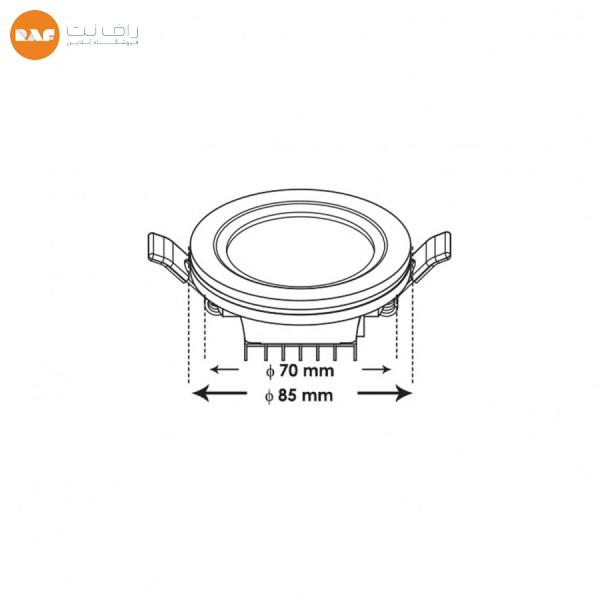 پنل ال ای دی 7 وات پارس شعاع توس مدل آرامیس دایره ای