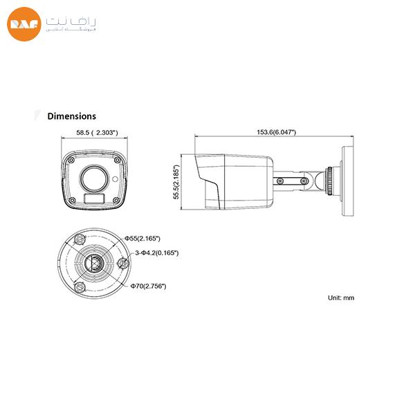 دوربین مداربسته DS-2CE16D7T-IT هایک ویژن