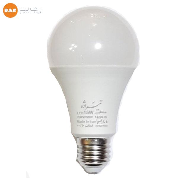 لامپ ال ای دی 15 وات تیراژه مدل حبابی