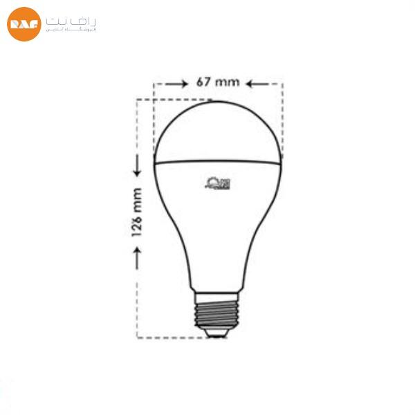 لامپ ال ای دی 15 وات پارس شعاع توس مدل حبابی