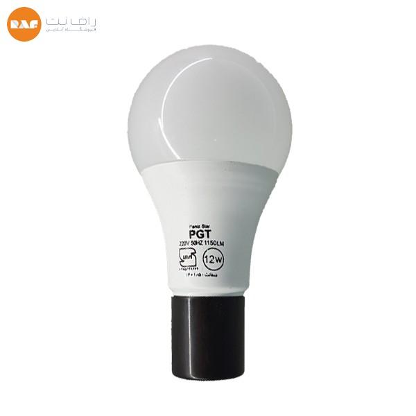 لامپ ال ای دی 12 وات پی جی تی مدل حبابی پایه E27