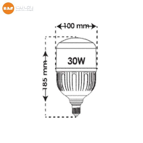 لامپ ال ای دی 30 وات پارس شعاع توس مدل استوانه