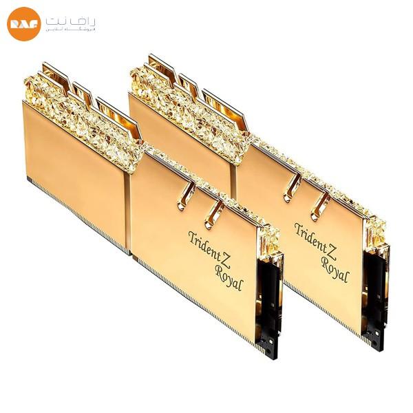 رم دسکتاپ DDR4 دو کاناله 3600 مگاهرتز CL18 جی اسکیل مدل TRIDENTZ ROYAL GOLD ظرفیت 64 گیگابایت