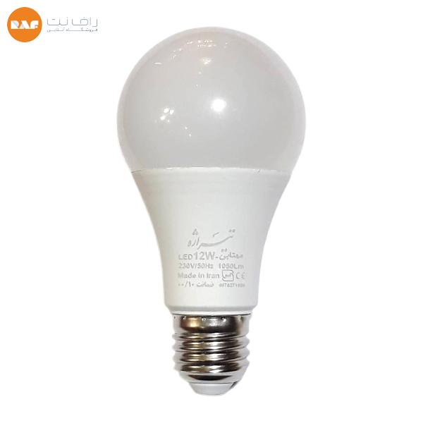 لامپ ال ای دی 12 وات تیراژه مدل حبابی