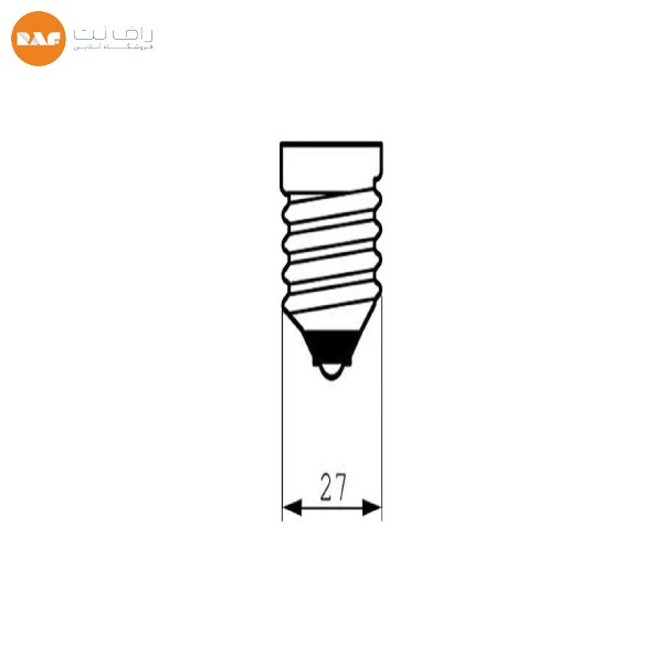 لامپ کم مصرف 18 وات دلتا مدل تمام پیچ پایه E27