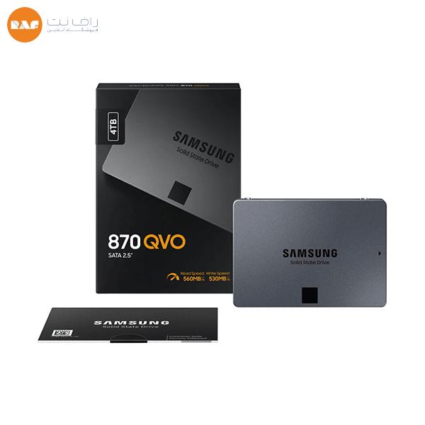 حافظه SSD اینترنال سامسونگ مدل 870 QVO با ظرفیت 4TB
